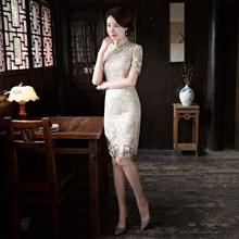 Обработка-, Rebate Not-Lace Мода улучшенная Cheongsam Slim Fit Xie Jin короткое платье cheongsam