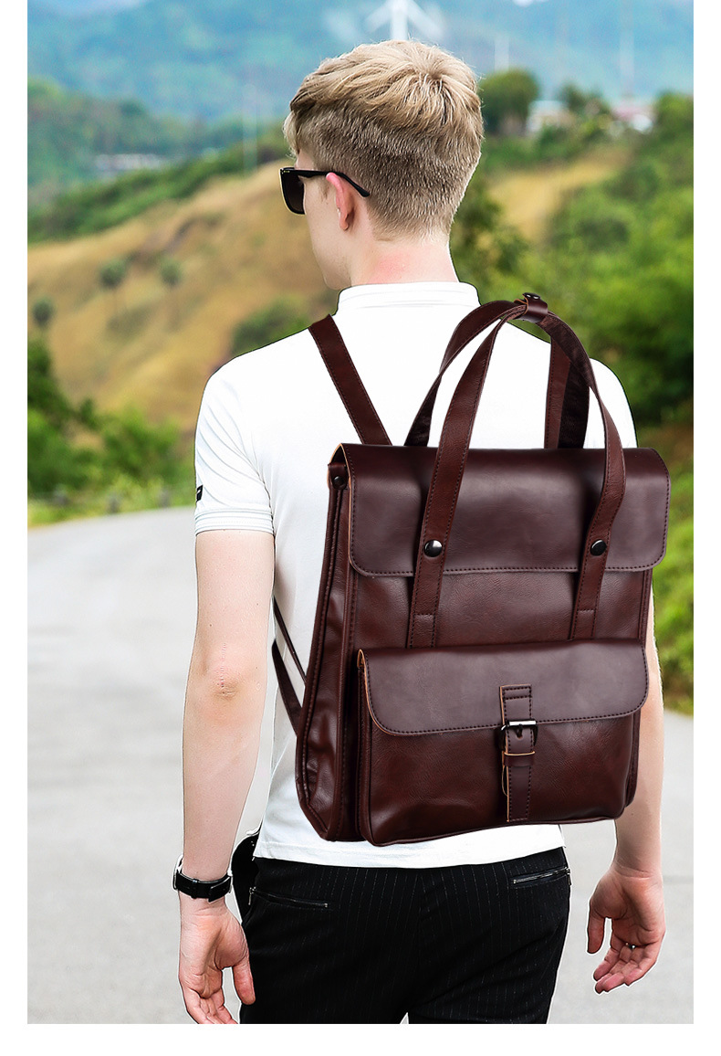 JIULIN Laptop Backpack Travel-Bag Shouulder-Bag Male Men Casual Brand Designer Real
