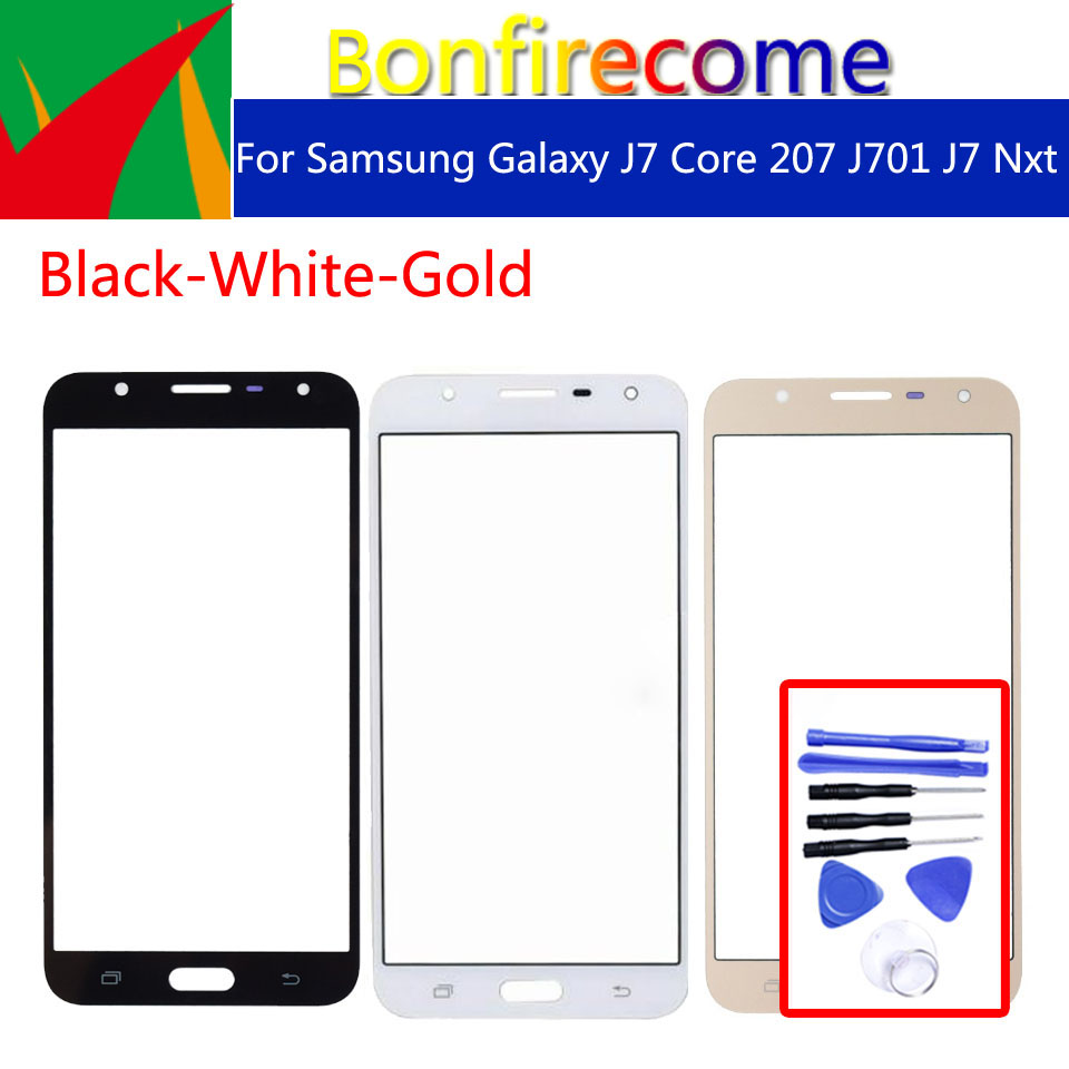 J701 For Samsung Galaxy J7 Core 2017 J7 Nxt J7 Neo J701 J701F J701DS J701M LCD Front Outer Glass Touch Screen Lens Replacement