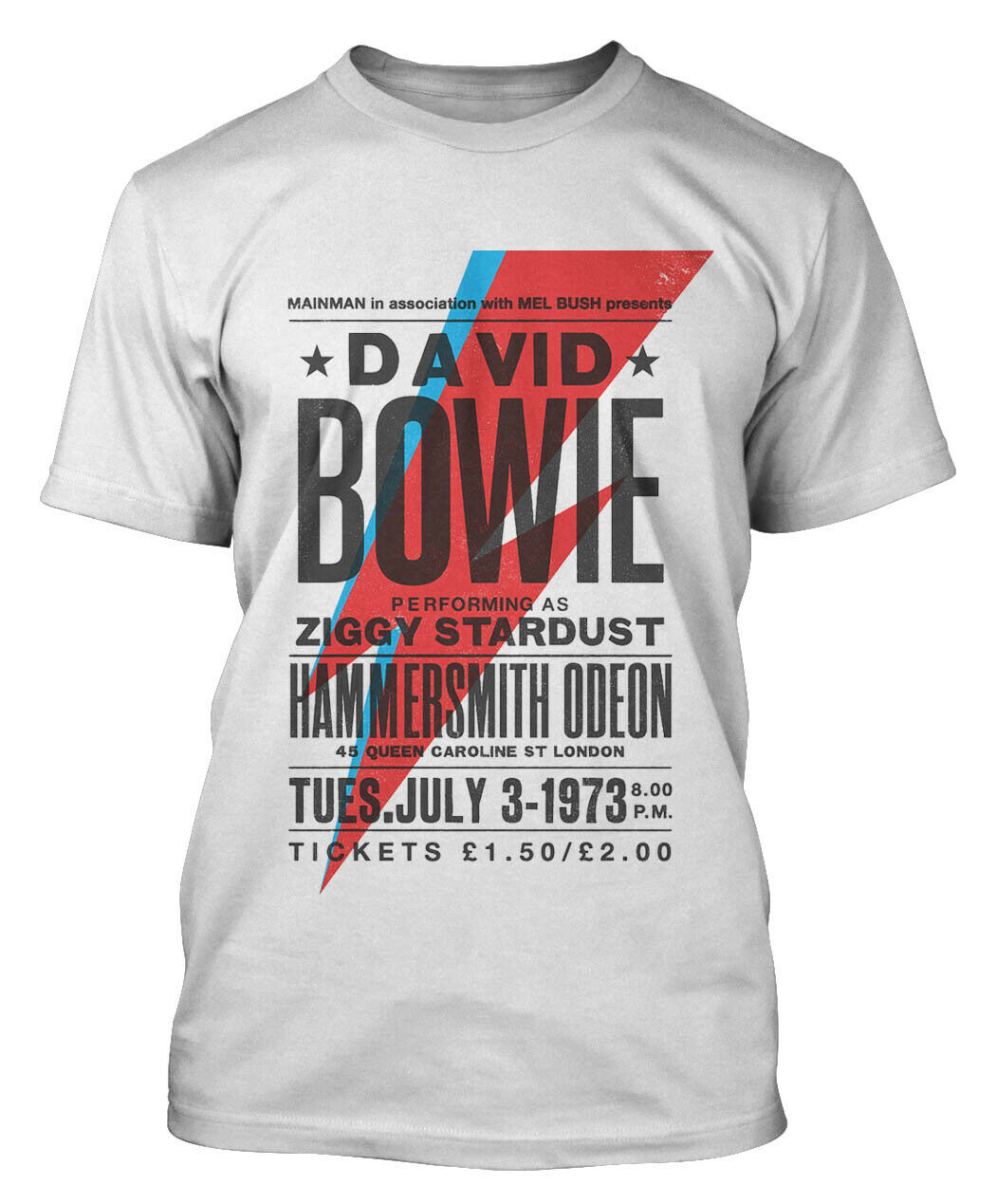 DAVID BOWIE T-SHIRT POSTER