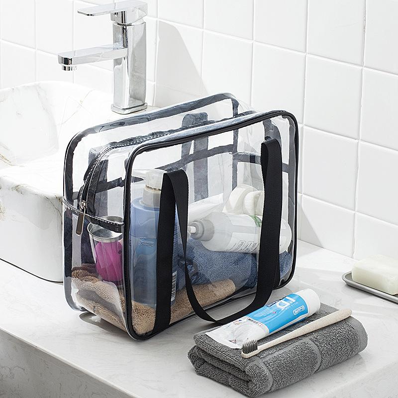 Transparent Waterproof PVC Travel Bag Large Capacity Of Bags Unisex Clothing Sorting Organize Storage Bags Bathing Bag Wholesale