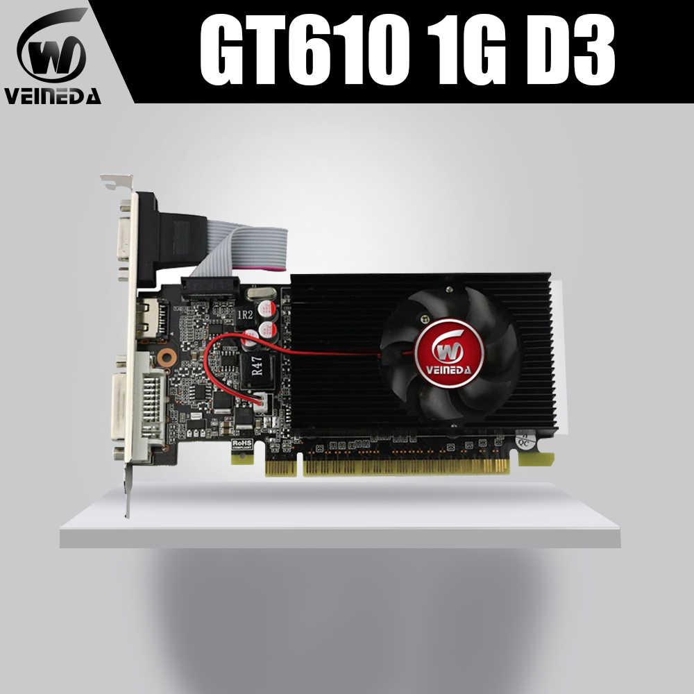 بطائق جرافيك الفيديو GT610 1 جيجابايت DDR3 بطاقة جرافيكس s ل nVIDIA Geforce GT610 1 جيجابايت DDR3 Hdmi Dvi بطاقات