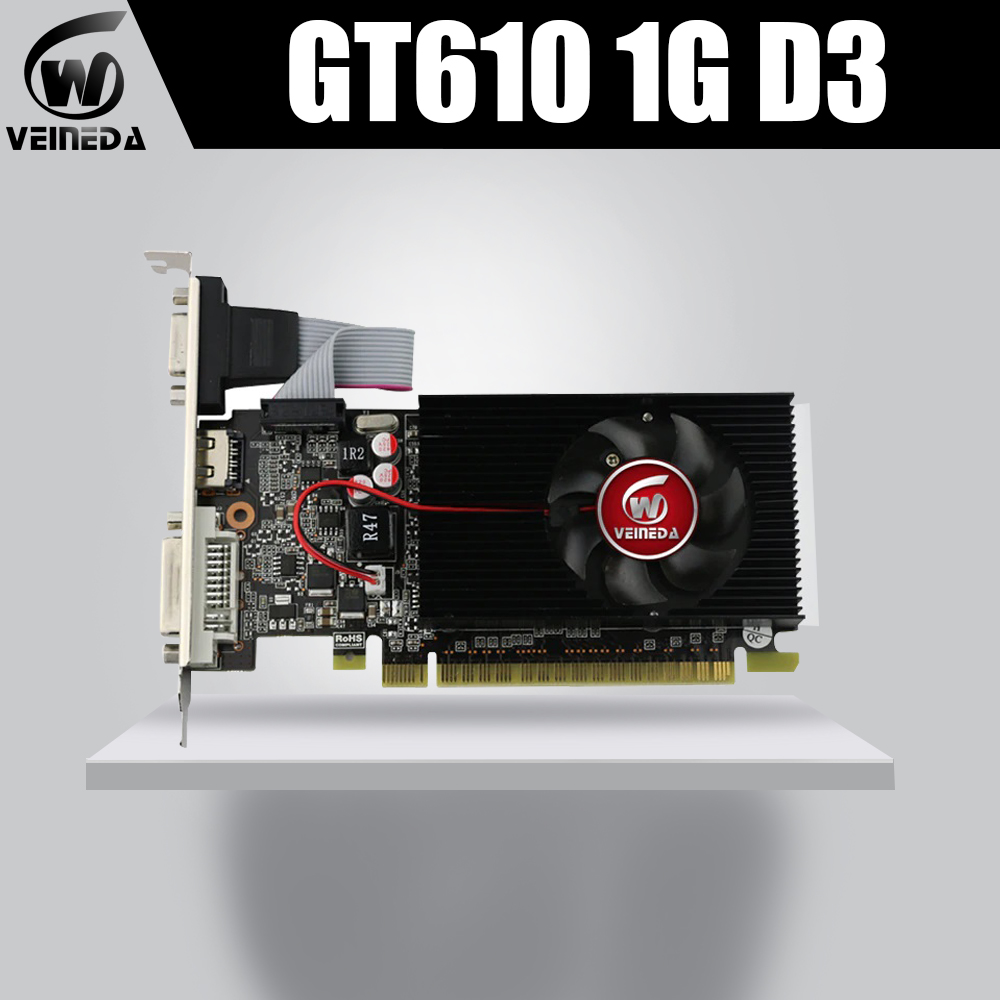Video Graphics Card GT610 1GB DDR3 Graphics Cards for NVIDIA Geforce  GT610 1GB DDR3  Hdmi Dvi Cards