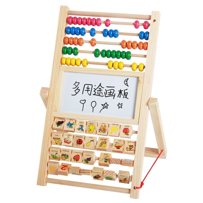 Multi Purpose Drawing Board Baby Drawing Board Double-Sided Magnetic Small Blackboard Braced Household CHILDREN'S Easel Whiteboa