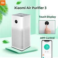 Purificador de aire Xiaomi 3 filtro mi limpiador de aire ozono fresco para el hogar auto humo formaldehído esterilizador cubo Smart mi JIA APP Control