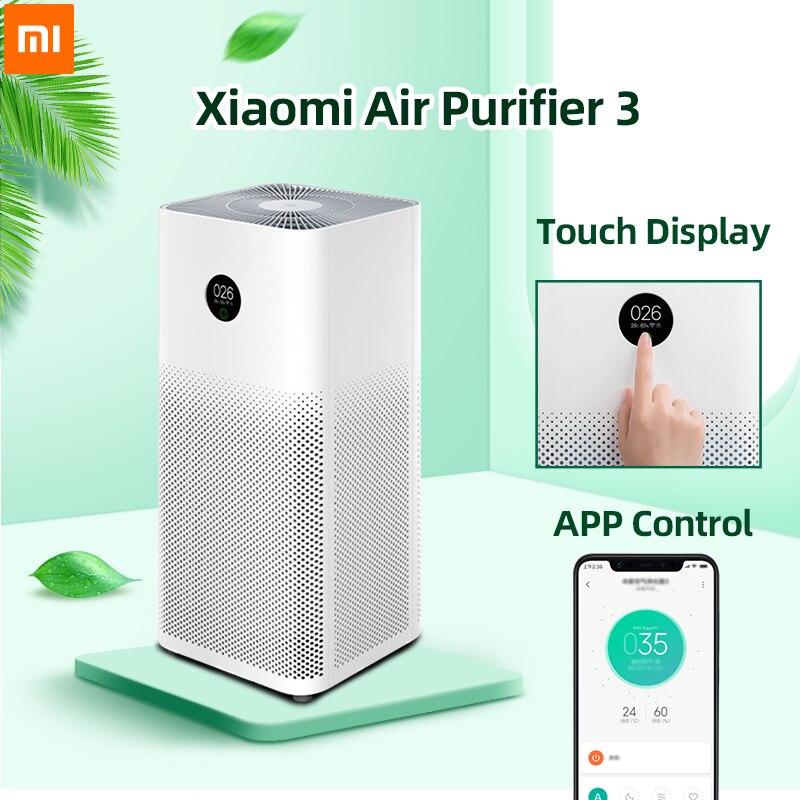 Xiaomi mi 3 Filtro Purificador de Ar esterilizador de Ozônio Purificador de Ar Fresco para casa auto Fumaça formaldeído Cubo Inteligente mi JIA Controle APP