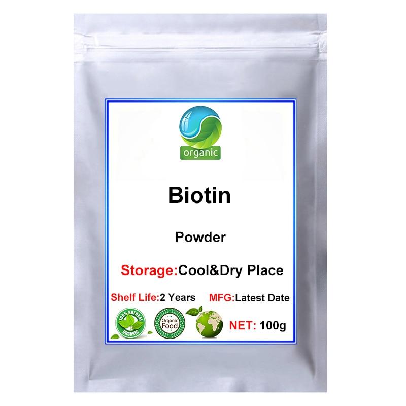 Biyotin tozu, Vitamin H,Vitamin B7,D Biotin, koenzim R, gıda sınıfı, önlemek beyaz saç ve saç dökülmesi, saç beslenme takviyesi