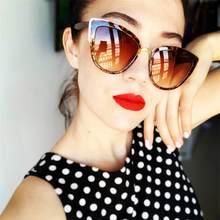 Lunettes de soleil yeux de chat, léopard, styliste de marque, Vintage, ombres mignonnes pour femmes