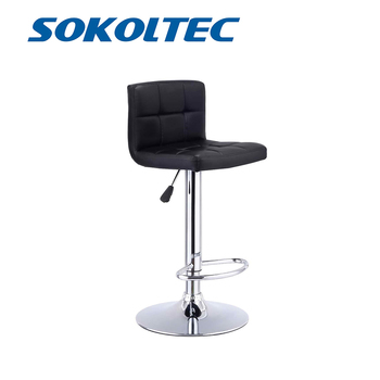 Fast Dispatch SOKOLTEC Bar Swivel Chair Counter Stool Height Adjustable Kitchen Chair High Back Chair Contemporary PU Leather wahson tufted round back swivel accent chair contemporary adjustable leather chrome vanity chair lounge pub bar bedroom white