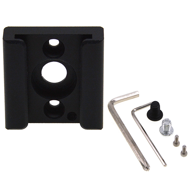 Cold Shoe Mount Adapter Bracket with 1//4 inch Thread Hole for Camera Cage