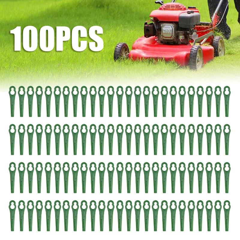 100Pcs Grass Trimmer Plastic Blade Grass Trimmer Blade  Mower Cutting Blades For Strimmer Grass Trimmer Lawn Mower