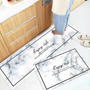 Мраморные кухонные ковры ПВХ кожаные Коврики для пола большие Коврики для пола спальни татами водонепроницаемый маслонепроницаемый кухон...