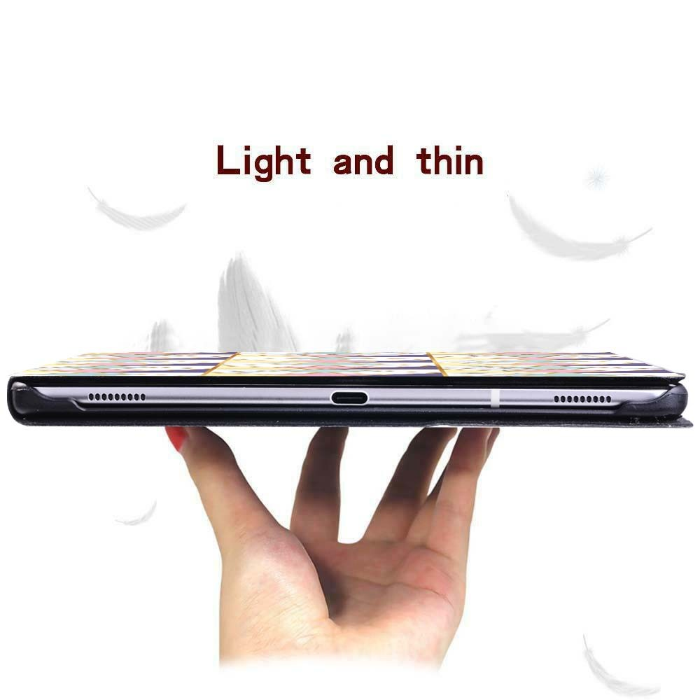 For Apple iPad 8 10 2 2020 8th 8 Generation A2428 A2429 Slim Printed Geometry PU