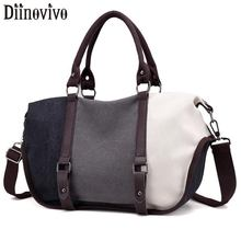 DIINOVIVO Fashion Patchwork Handbag Crossbody Bags Women Canvas Shoulder Messenger Bag Female Handbag Lady Totes Bag WHDV1296 free shipping 2017 new fashion female handbag lady girls casual canvas handbag shoulder bag multifunctional women messenger bag