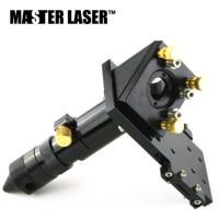 CO2 Laser Cutting Head Laser Head for Focus Lens Dia.19mm 20mm Rfelect Mirror Dia. 25mm Laser Engraving Machine