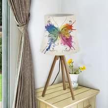 Красивый абажур в виде бабочки тканевый настенный светильник
