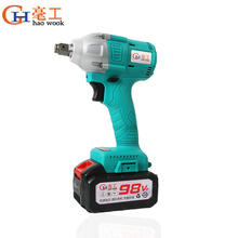 цена на Brushless Cordless Impact Electric Wrench 310N.m 98VF 6000mAh Torque Household Car Wrench Drill Driver Kit Power Tools