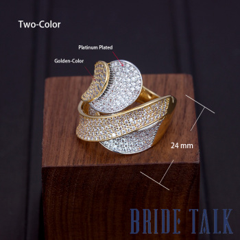 Bride Talk Hot Sale Women Finger Ring Cubic Zirconia Fashion Popular Bridal Rings Jewelry For Wedding Party Lady Accessories