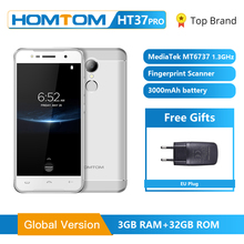 HOMTOM HT37 Pro Smartphone 4G Double Speaker MTK6737 5.0 Inch HD Android 7.0 3GB+32GB 13MP 3000mAh F