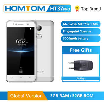 HOMTOM HT37 Pro Smartphone 4G Double Speaker MTK6737 5.0 Inch HD Android 7.0 3GB+32GB 13MP 3000mAh Fingerprint ID Mobile Phone - DISCOUNT ITEM  33% OFF All Category