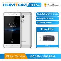 HOMTOM HT37 Pro Smartphone 4G Doppel Lautsprecher MTK6737 5,0 Zoll HD Android 7.0 3GB + 32GB 13MP 3000mAh Fingerprint ID Handy
