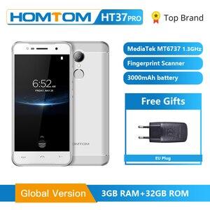 Image 1 - Homtom HT37 プロスマートフォン 4 グラムダブルスピーカーMTK6737 5.0 インチhdのandroid 7.0 3 ギガバイト + 32 ギガバイト 13MP 3000mah指紋id携帯電話