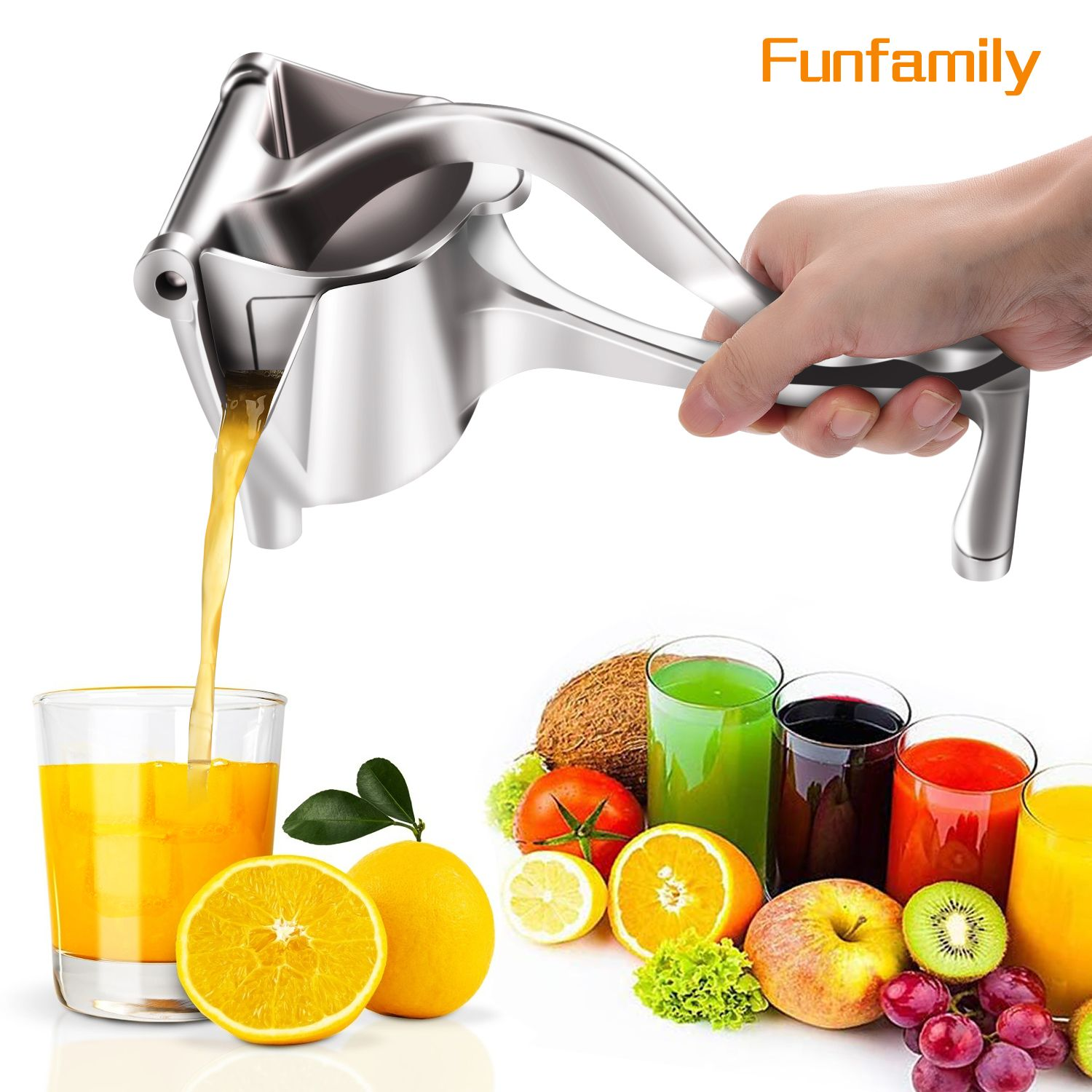 Manual Juice Squeezer Aluminum Alloy Hand Pressure Juicer Pomegranate Orange Lemon Sugar Cane Juice Kitchen Fruit Tool
