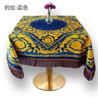 2019 New Arrivals Table Cloth with Tassels 150x150cm Square Table Covers Decorative Luxury Tablecloth Tea Table Cloth