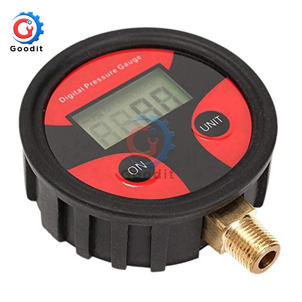0-200PSI Tyre Tire Pressure Gauge Car Truck Bike Car Tyre Tire Air Pressure Dial Meter Tester Digital Tire Pressure Gauge Tool