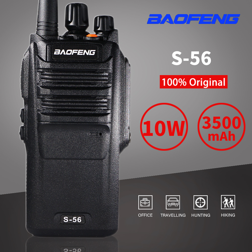 10W High Power Baofeng S-56 Walkie Talkie Waterproof 10km Hunting Ham CB Radio Station 3500mAh UHF Transceiver Two Way Radio
