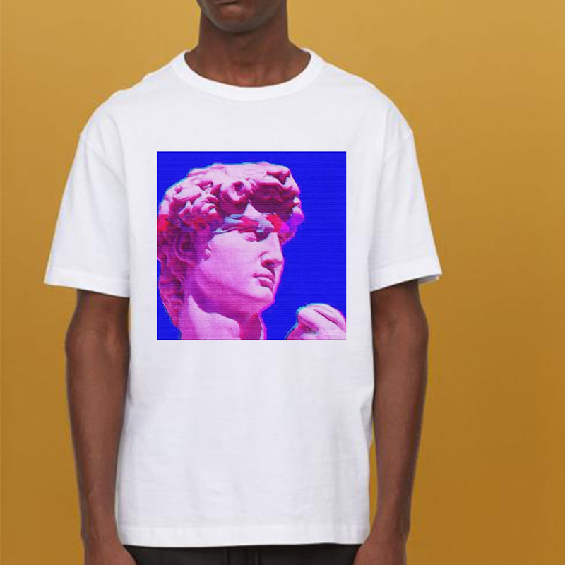 Vaporwave Sculpture Novelty Aesthetics Men/women T Shirt Harajuk Hiphop Streetwear Hombres Homme Tee Shirt Top Tees Funny TShirt image