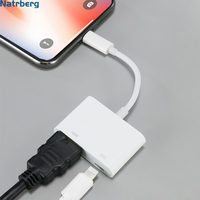HDMI Adapter für iPhone HDMI Kabel zu TV 1080P Digitale Audio AV Adapter für iPhone iPad Sync Screen Konverter blitz zu HDMI-in Handy-Adapter aus Handys & Telekommunikation bei