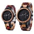 Деревянные часы BOBO BIRD для мужчин и женщин, кварцевые часы с датой недели, красочные деревянные часы с логотипом, U-P14-1 на заказ