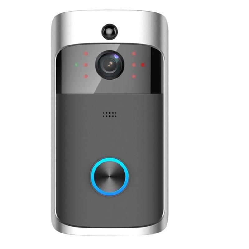 Inteligente Interfone Visuais Campainha de Vídeo de 720P Câmera Wi-fi Sem Fio Da Porta Telefone Campainha Da Porta de Casa De Monitoramento de Segurança da Visão Nocturna do IR