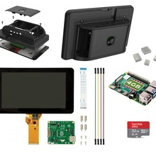 Case Raspberry Pi Sd-Card 4GB with Heatsink-Kit Included 4-4gb Touchscreen-Display-Display