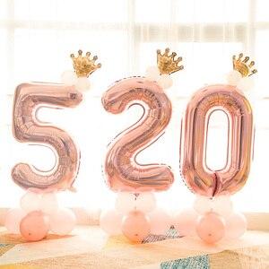 Image 5 - Leeiu Numero Foil Palloncini Palloncini Di Compleanno In Oro Rosa 1 2 3 4 5 6 7 8 9 Anni di Buon Compleanno decorazioni Del Partito Dei Capretti Palloncini