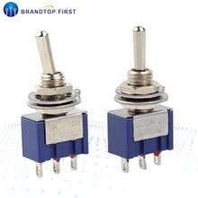 Запирающий переключатель 6A 125V MTS-102 103 Mini 3 Pin ВКЛ.-ВЫКЛ.-ВКЛ.-вкл