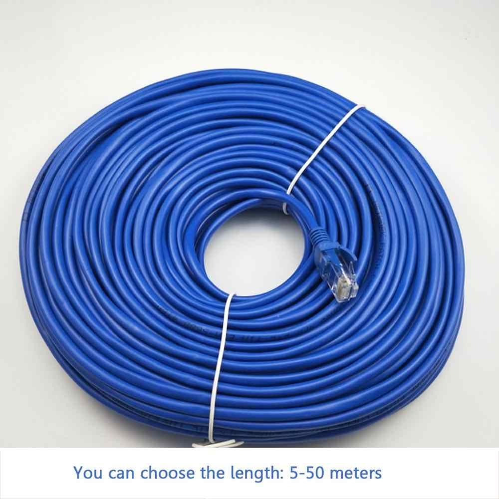 5/10/15/20/25/30/50m CAT5 100M RJ45 câbles Ethernet connecteur Ethernet réseau Internet câble cordon ligne de fil bleu Rj 45 Lan CAT5