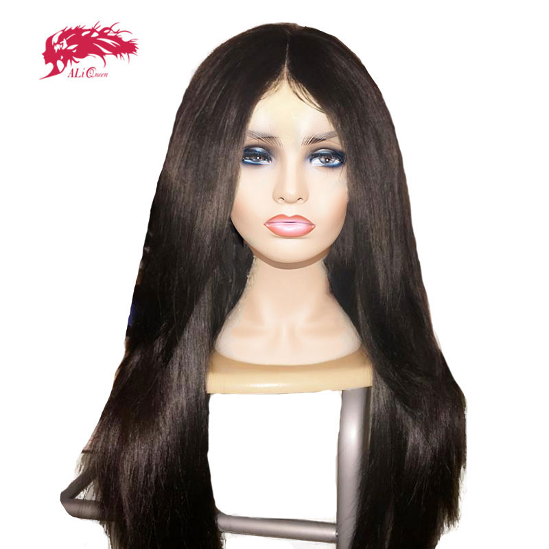 Brazilian Straight Lace Wig Custom Made Bundles With 4x4 Lace Closure / 13x4 Lace Frontal DIY Virgin Remy Human Hair Wig