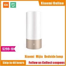 Xiaomi mijia mi lâmpada de cabeceira, 1 mesa de luz interior controle inteligente rgb wifi touch para mi aplicativo doméstico para casa