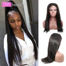 6x6 dantel kapatma peruk brezilyalı bakire saç düz dantel ön İnsan saç peruk siyah kadınlar için ön koparıp peruk DJSbeauty