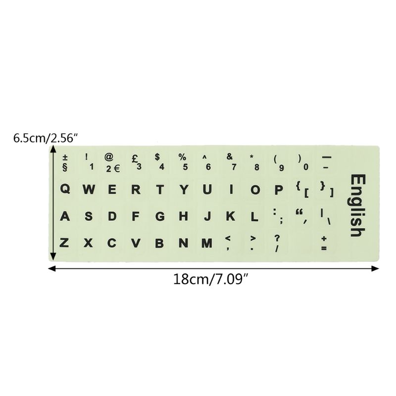 Luminous Waterproof Keyboard Stickers Fluorescent Keyboard Stickers Protective Film Layout with Button Letters for English key-4