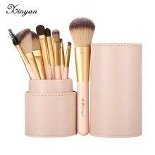 XINYAN – ensemble de pinceaux de maquillage pour débutants, Blush rose, fard à paupières, correcteur, cosmétiques pour lèvres, fond de teint en poudre, outils de beauté