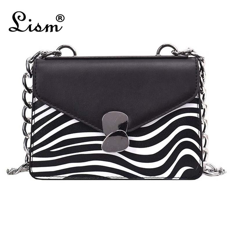 Women's Bag Brand Designer Design Stitching Small Square Bag Fashion Chain Shoulder Messenger Bag Lady Zebra Pattern Bag