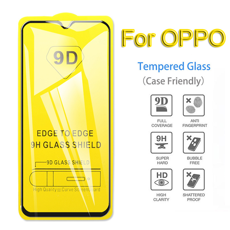 9D Full Glue Tempered Glass on the For OPPO F11 <font><b>F7</b></font> A5S A7 Screen Protector For OPPO Realme 1 2 3 pro x F9 Protective Glass Film image