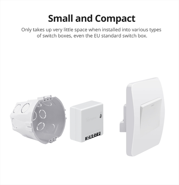 Sonoff mini R2 Smart Wifi Switch Home DIY Small Two Way Light Switches Timer Remote Control Works with Alexa Google Home eWeLink 3