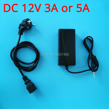 (US/UK/EU) DC 12V-3A/5A Power Adapter Charger With Plug Cord Output Port 2.5MM and 5.5MM for Our controller driver board DIY kit