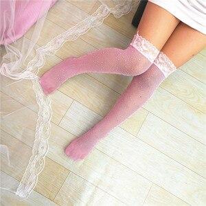 Kids Fishnet Tights Top Girls Sequin Children Mesh Fishnet Net Pattern Pantyhose Diamond Tights Stockings Summer Kids Tights