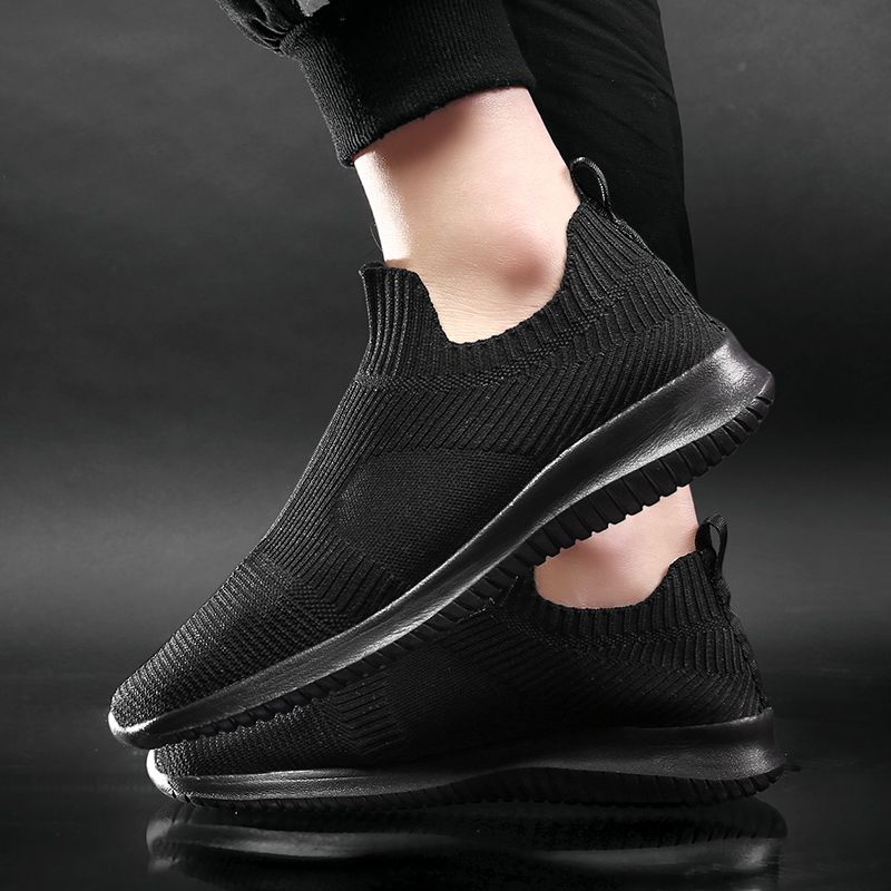 WDHKUN Summer Fashion Men Sneakers Breathable Men Fashion Shoes Slip On Sneakers For Men Cheap Men Loafers Shoes Without Laces