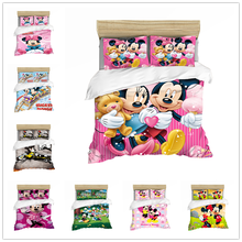 DISNEY Mickey Mouse Bedding Set Duvet Cover Sets Single Double Queen King Size Comforter Bedding Sets bedding set double tango 073 70